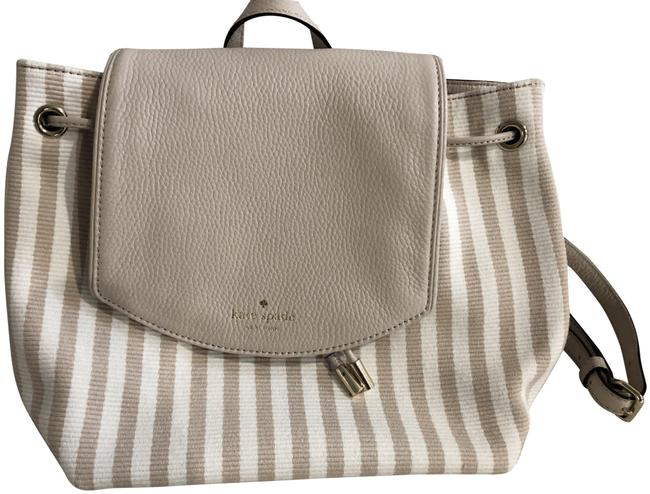 Item - Small Breezy Mulberry Striped Cream & Nude Canvas Backpack