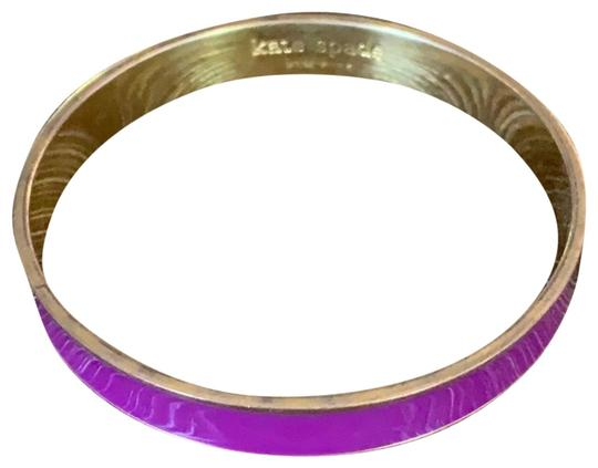 Preload https://img-static.tradesy.com/item/25945296/kate-spade-purple-and-gold-enamel-bracelet-0-1-540-540.jpg