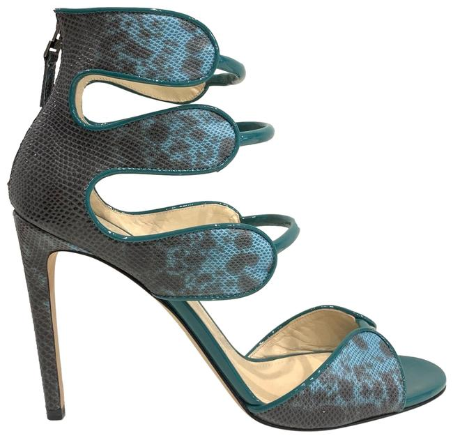 Chloe Gosselin Green Blue Larkspur Sandals Size EU 41 (Approx. US 11) Regular (M, B) Chloe Gosselin Green Blue Larkspur Sandals Size EU 41 (Approx. US 11) Regular (M, B) Image 1