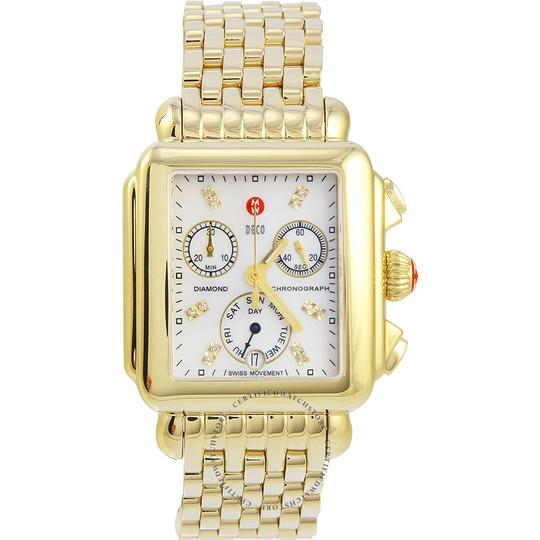 Michele Deco Stainless Mother Of Pearl Diamond Dial MWW06P000016 Image 6