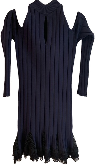 Preload https://img-static.tradesy.com/item/25945506/jonathan-simkhai-navy-black-lace-and-ribbed-mid-length-cocktail-dress-size-8-m-0-1-650-650.jpg