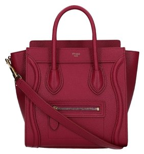 Céline Nano Nano Luggage Luggage Satchel in Red