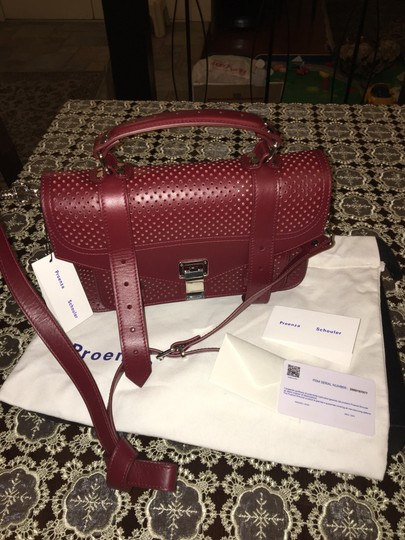 Proenza Schouler Satchel in midnight plum Image 10
