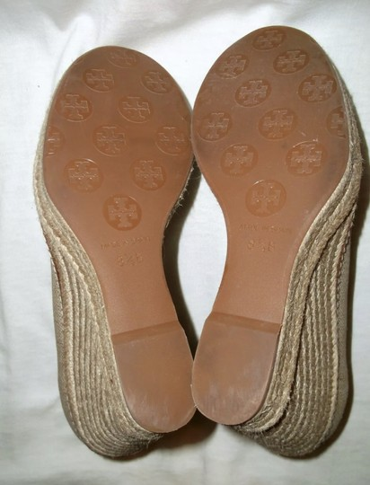 Tory Burch gold and tan Wedges Image 1