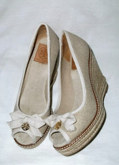 Tory Burch gold and tan Wedges Image 4