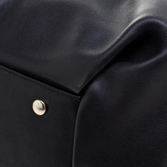 Smythson Leather Satin Satchel in Black Image 5