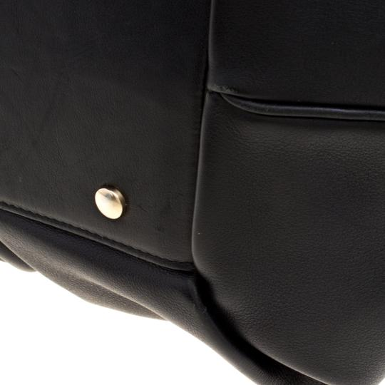 Smythson Leather Satin Satchel in Black Image 6