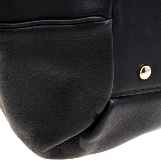 Smythson Leather Satin Satchel in Black Image 7