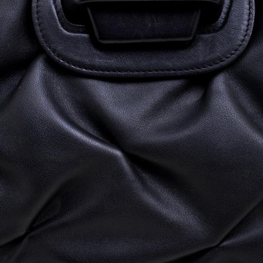 Smythson Leather Satin Satchel in Black Image 9