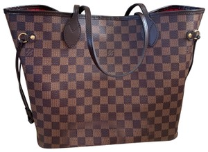 Louis Vuitton Tote in Brown, Red