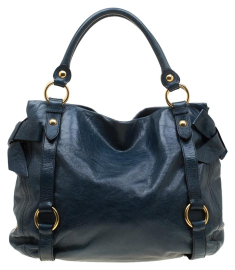 Preload https://img-static.tradesy.com/item/25945766/miu-miu-blue-leather-tote-0-1-540-540.jpg