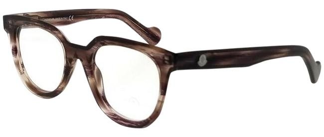 Moncler Brown Ml5005-081-47 Square Women's Frame Clear Lens Eyeglasses Moncler Brown Ml5005-081-47 Square Women's Frame Clear Lens Eyeglasses Image 1