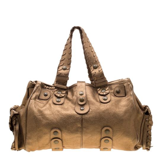 Chloé Leather Satchel in Gold Image 1