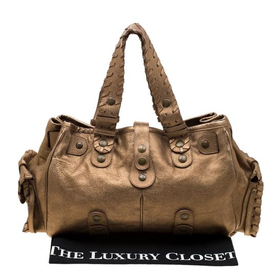 Chloé Leather Satchel in Gold Image 10
