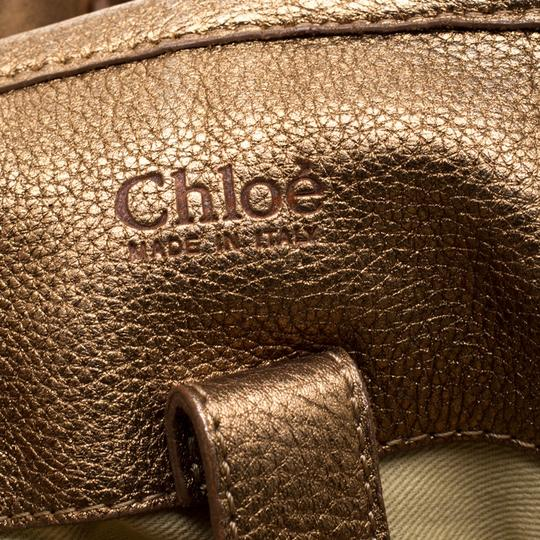 Chloé Leather Satchel in Gold Image 7