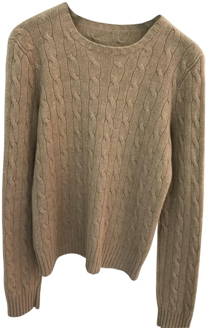 Preload https://img-static.tradesy.com/item/25945810/ralph-lauren-black-label-cashmere-beige-sweater-0-1-650-650.jpg