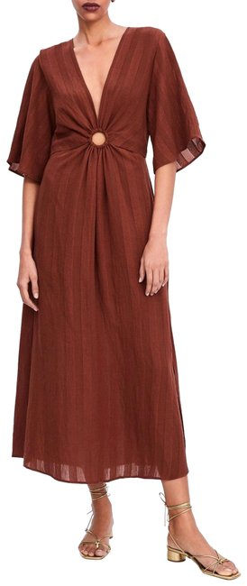 Preload https://img-static.tradesy.com/item/25945913/zara-rust-with-metal-ring-detail-long-casual-maxi-dress-size-12-l-0-1-650-650.jpg