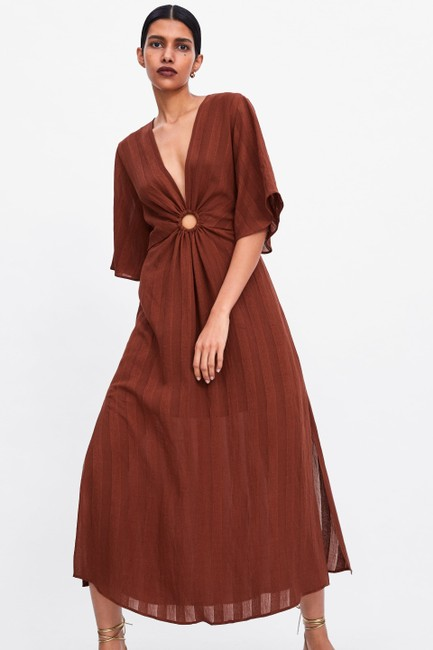 Rust Maxi Dress by Zara Image 1