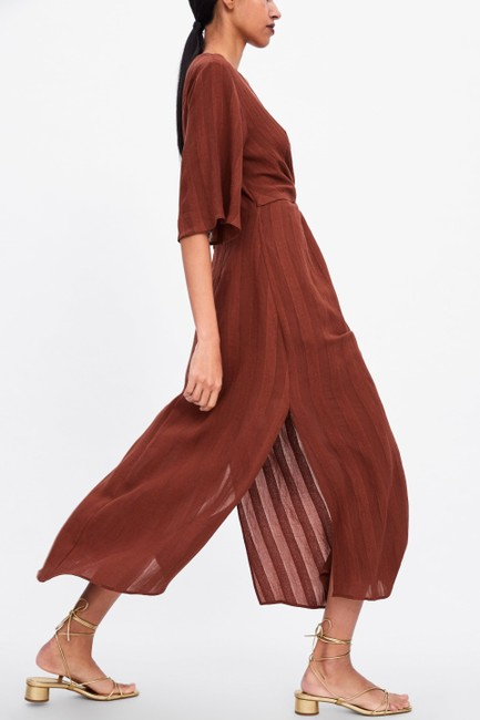 Rust Maxi Dress by Zara Image 4