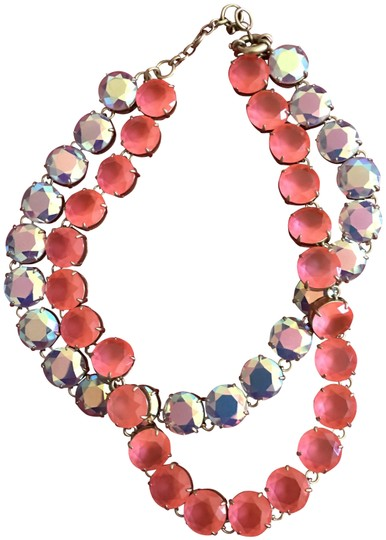Preload https://img-static.tradesy.com/item/25945940/jcrew-pink-and-silvery-double-necklace-0-1-540-540.jpg