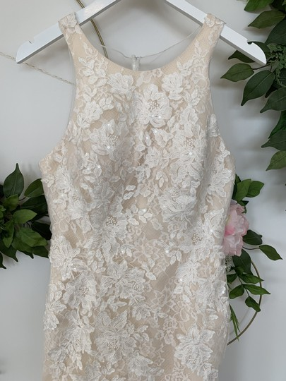 Rosa Clará Nude Lace and Tulle Austral Feminine Wedding Dress Size 10 (M) Image 1
