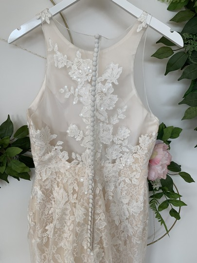 Rosa Clará Nude Lace and Tulle Austral Feminine Wedding Dress Size 10 (M) Image 3