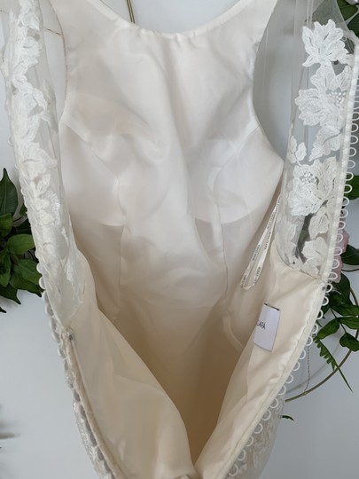Rosa Clará Nude Lace and Tulle Austral Feminine Wedding Dress Size 10 (M) Image 4
