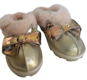 UGG Australia New With Tags New In Box Gold Mules