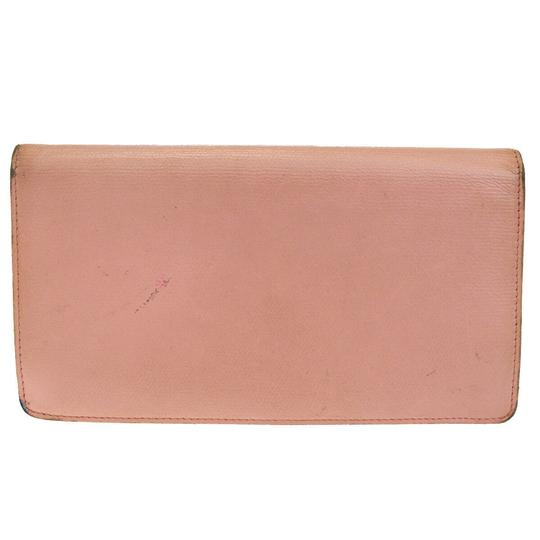 Chanel Authentic CHANEL CC Logos Long Bifold Wallet Purse Leather Pink Vintag Image 5