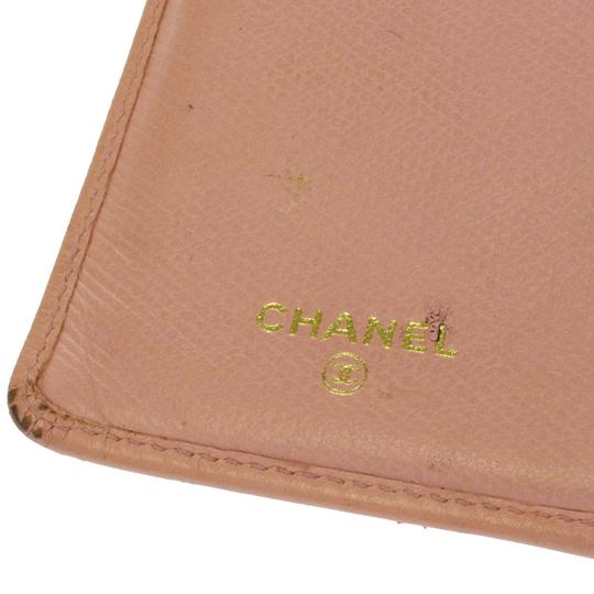 Chanel Authentic CHANEL CC Logos Long Bifold Wallet Purse Leather Pink Vintag Image 6