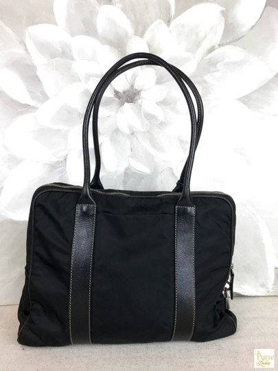 Prada Nylon Tote in Black Image 1