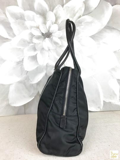 Prada Nylon Tote in Black Image 2