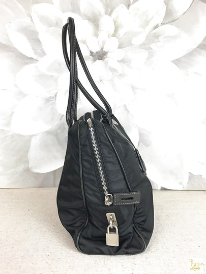 Prada Nylon Tote in Black Image 3