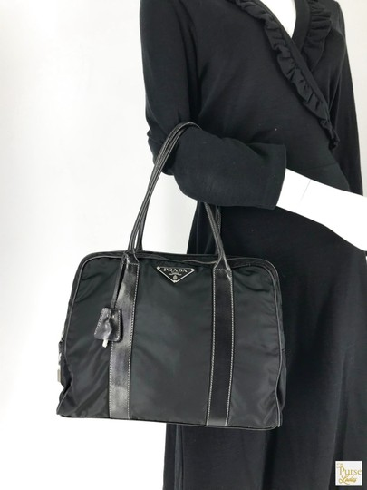 Prada Nylon Tote in Black Image 7