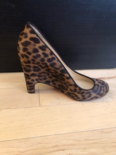 Christian Louboutin Clwedges Redsoleswedges Animalprintredsoles Animal Print Pumps Image 3