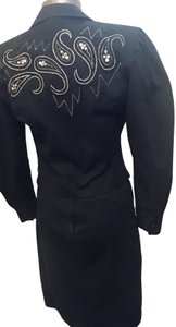 Cedars Denim and sequin embroidered suit.