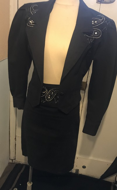 Cedars Denim and sequin embroidered suit. Image 1
