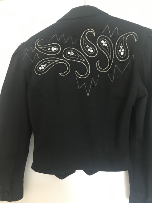 Cedars Denim and sequin embroidered suit. Image 3