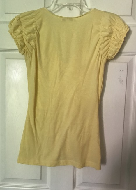 CAbi Vneck Sleeve T Shirt Butter Yellow Image 1