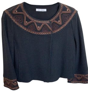 St. John Top Black with amber designs