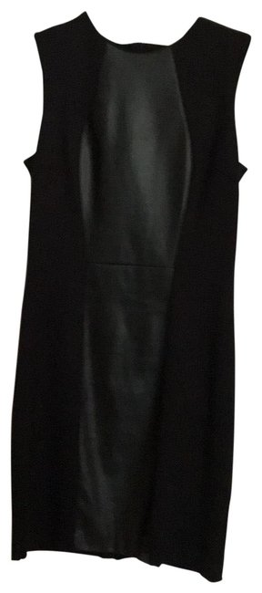 Preload https://img-static.tradesy.com/item/25946132/cynthia-steffe-black-knit-and-leather-short-workoffice-dress-size-6-s-0-1-650-650.jpg