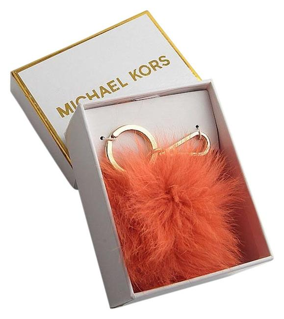 Item - Orange Box New In Fox Fur Pom Pom Keychain Fob Bag Charm