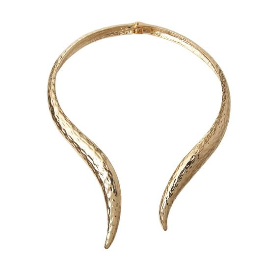 UNBRANDES Gold Hammered Cuff Necklace Image 1
