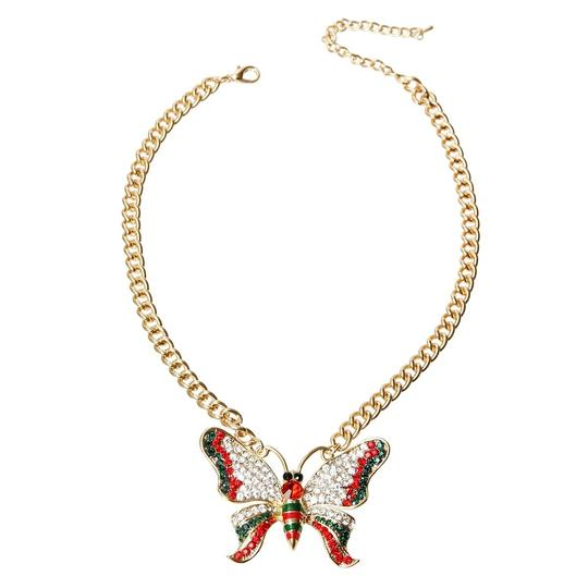 UNBRANDED Rhinestone Butterfly Necklace Image 1