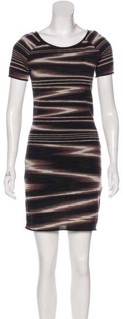Preload https://img-static.tradesy.com/item/25946331/missoni-brown-black-bodycon-short-night-out-dress-size-2-xs-0-1-650-650.jpg