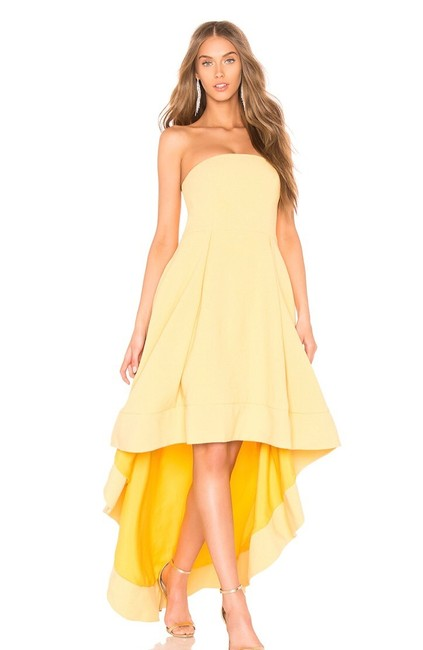 Preload https://img-static.tradesy.com/item/25946361/honeyyellow-entice-strapless-gown-long-formal-dress-size-4-s-0-0-650-650.jpg