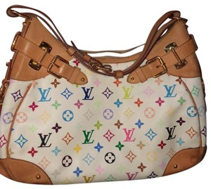Louis Vuitton Satchel in white , rainbow LV - item med img