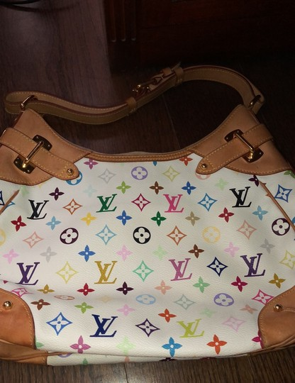 Louis Vuitton Satchel in white , rainbow LV Image 3