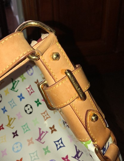Louis Vuitton Satchel in white , rainbow LV Image 4