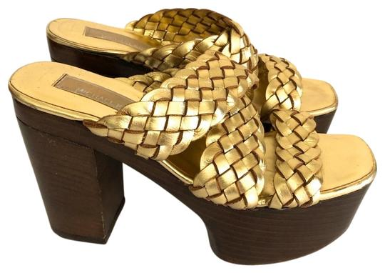 Preload https://img-static.tradesy.com/item/25946443/michael-kors-gold-color-leather-woven-heels-platforms-size-us-6-regular-m-b-0-1-540-540.jpg